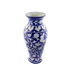 BLUE POTTERY CERAMIC VASE - Captivating Illustrations