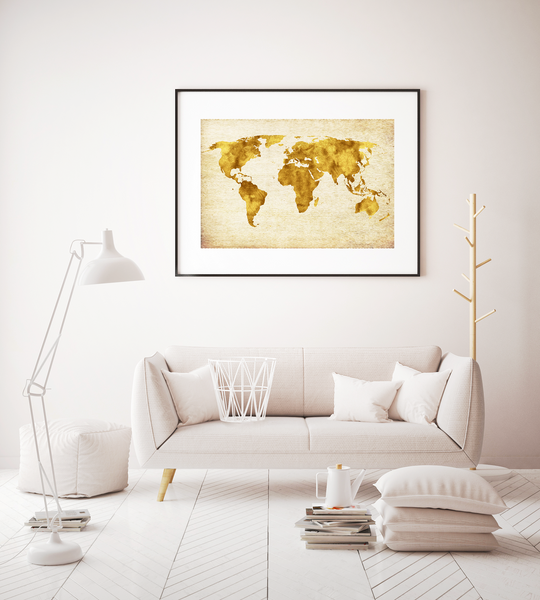 World Map Art Print Decor - Pine Lane Designs