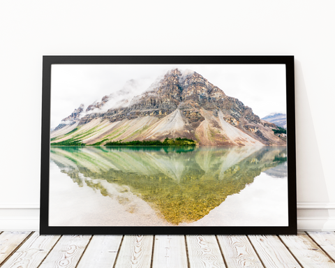 Mountain Reflection Art Print Decor - Pine Lane Designs