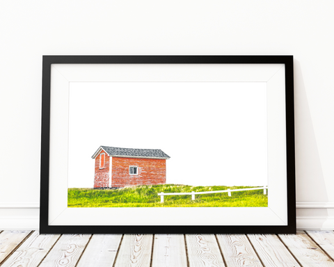 THE LITTLE RED HOUSE ART PRINT DECOR - Pine Lane Designs