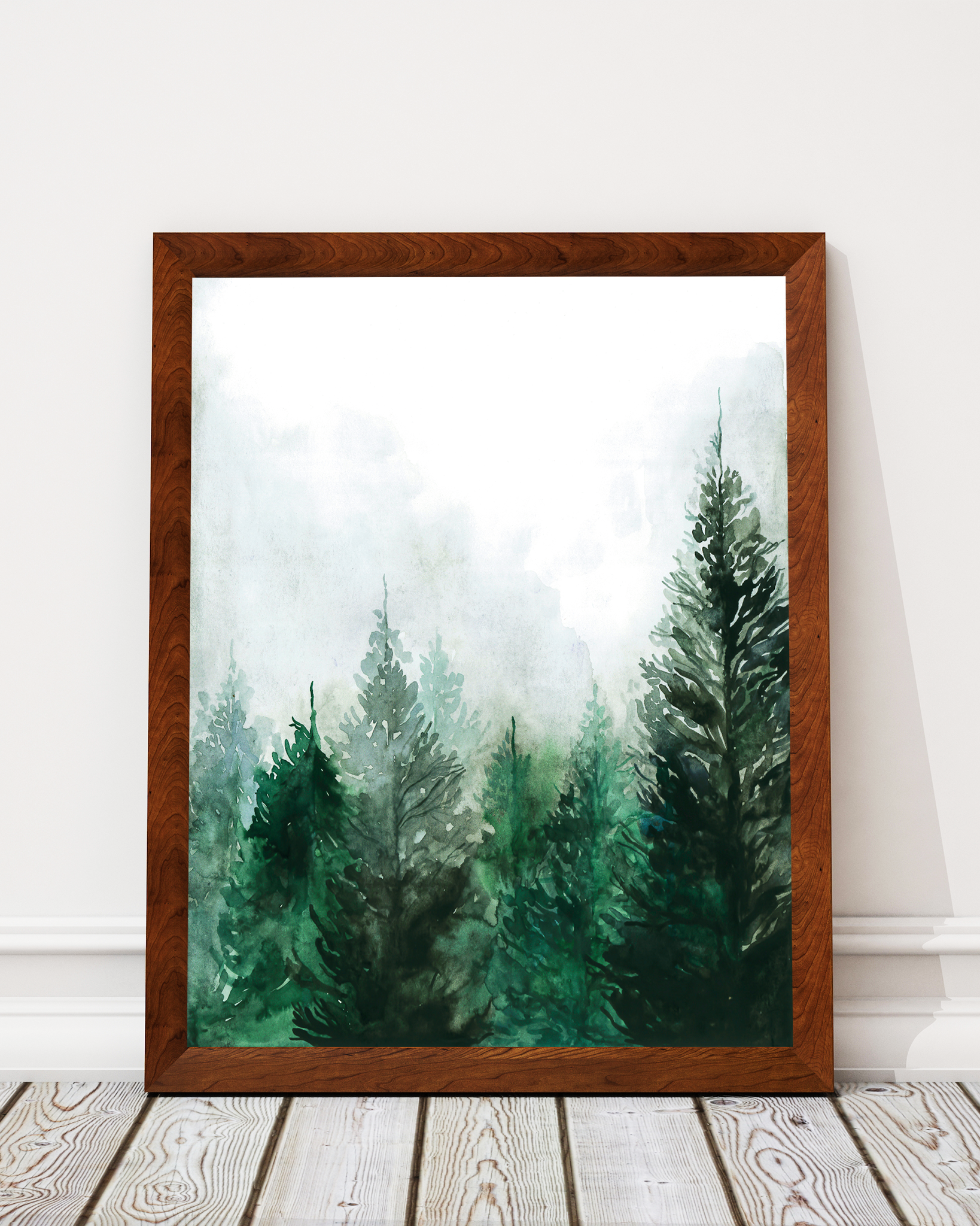 Pine Forest Watercolour Art Print Decor - Pine Lane Designs