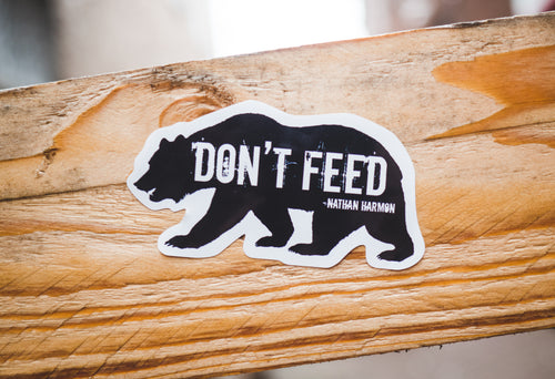 Don't Feed the Bear Sticker - Medium