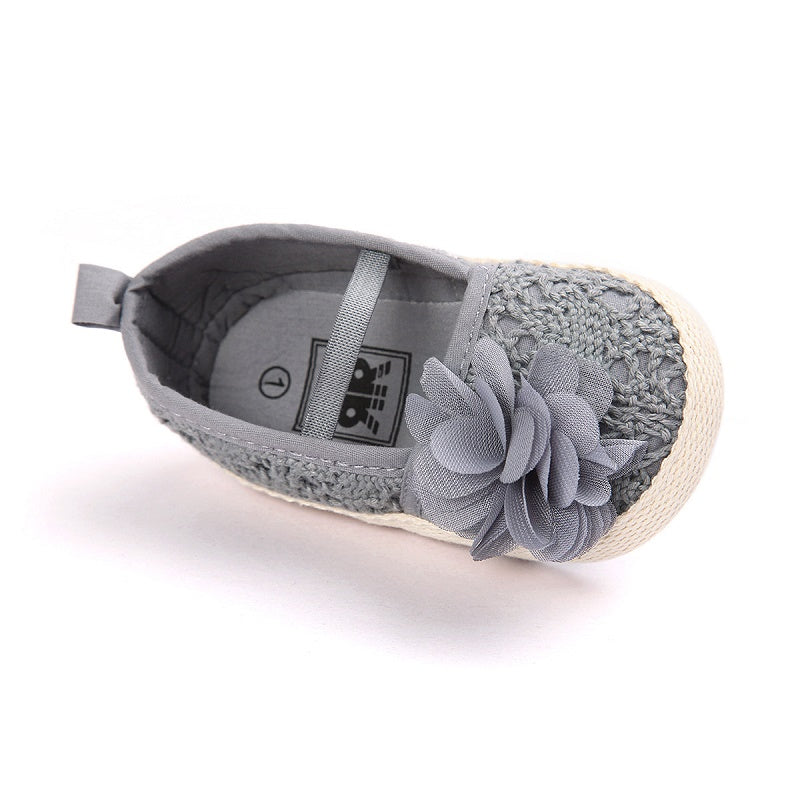 a05bc7e57 Baby Girls Crocheted Lace Ballet Flats with Flower – Twin Lakes Boutique