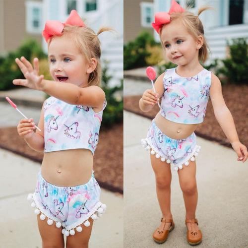 2b5d8337c Trendy Unicorn 2 pc Romper - Toddler Girls – Twin Lakes Boutique