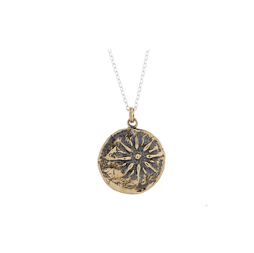 Star of Athena | Good Luck |  Small Journey Talisman Pendant Necklace in Bronze on Sterling Silver Chain-Wearable Wisdom-Jewelry Evolution8-Handcrafted Jewelry