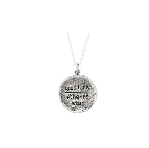 Athena's Star Small Journey Talisman Pendant Necklace in Sterling Silver-Wearable Wisdom-Jewelry Evolution8-Handcrafted Jewelry