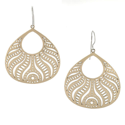 Beauty from Within Earrings in Bronze and Sterling Silver | Jewelry Evolution8 | Handcrafted Jewelry