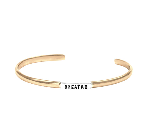 JOY Wide Matte Cuff in Bronze
