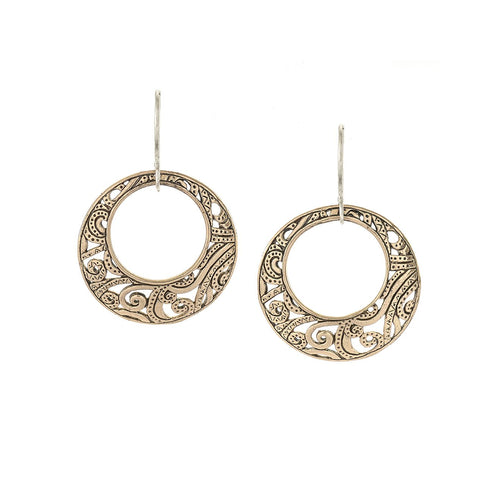 Creativity Earrings in Bronze and Sterling Silver | Jewelry Evolution8 | Handcrafted Jewelry