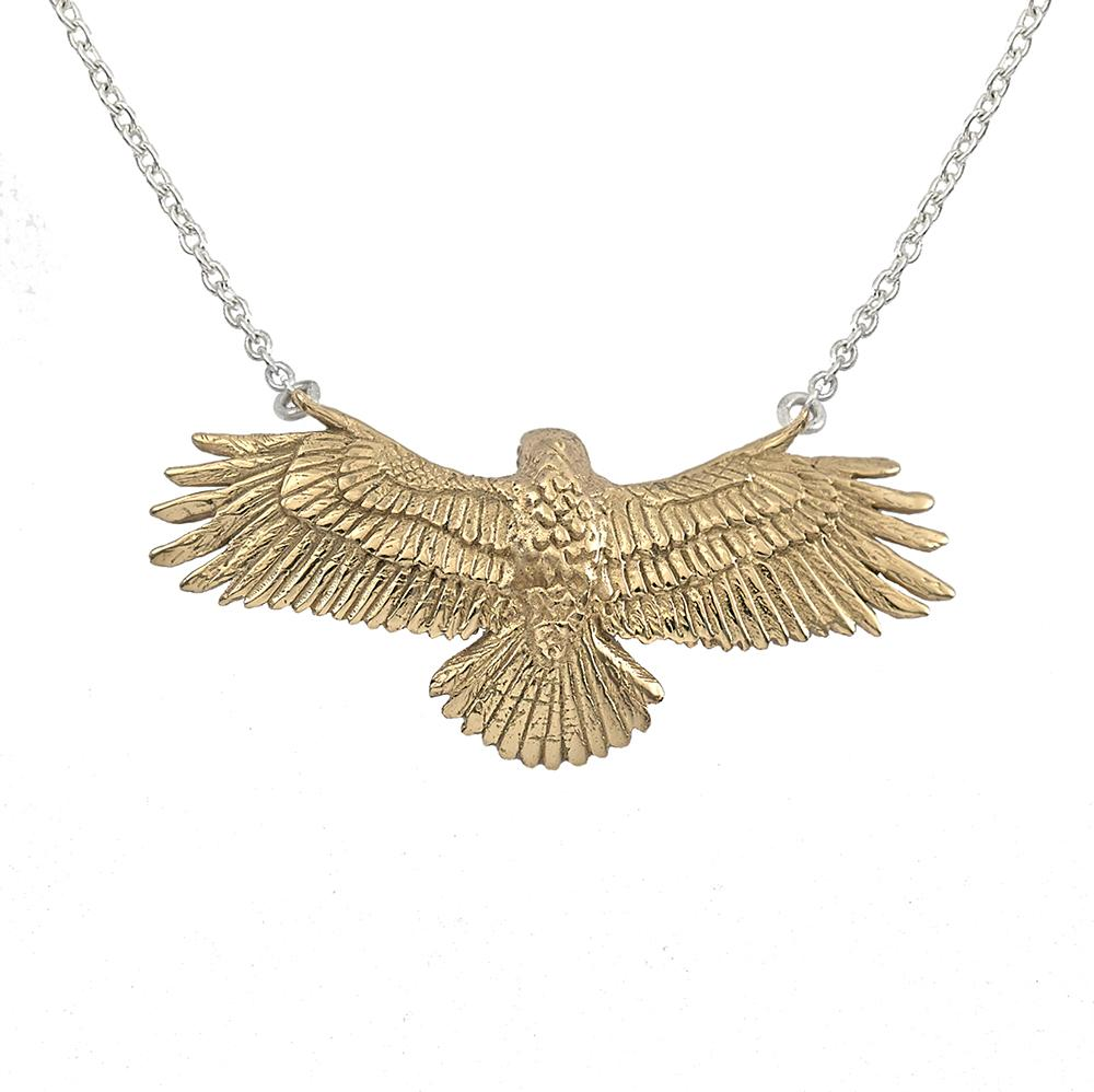 Clarity Hawk Necklace in Bronze