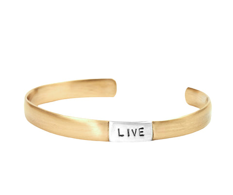 The Four Agreements Bangle in Brass