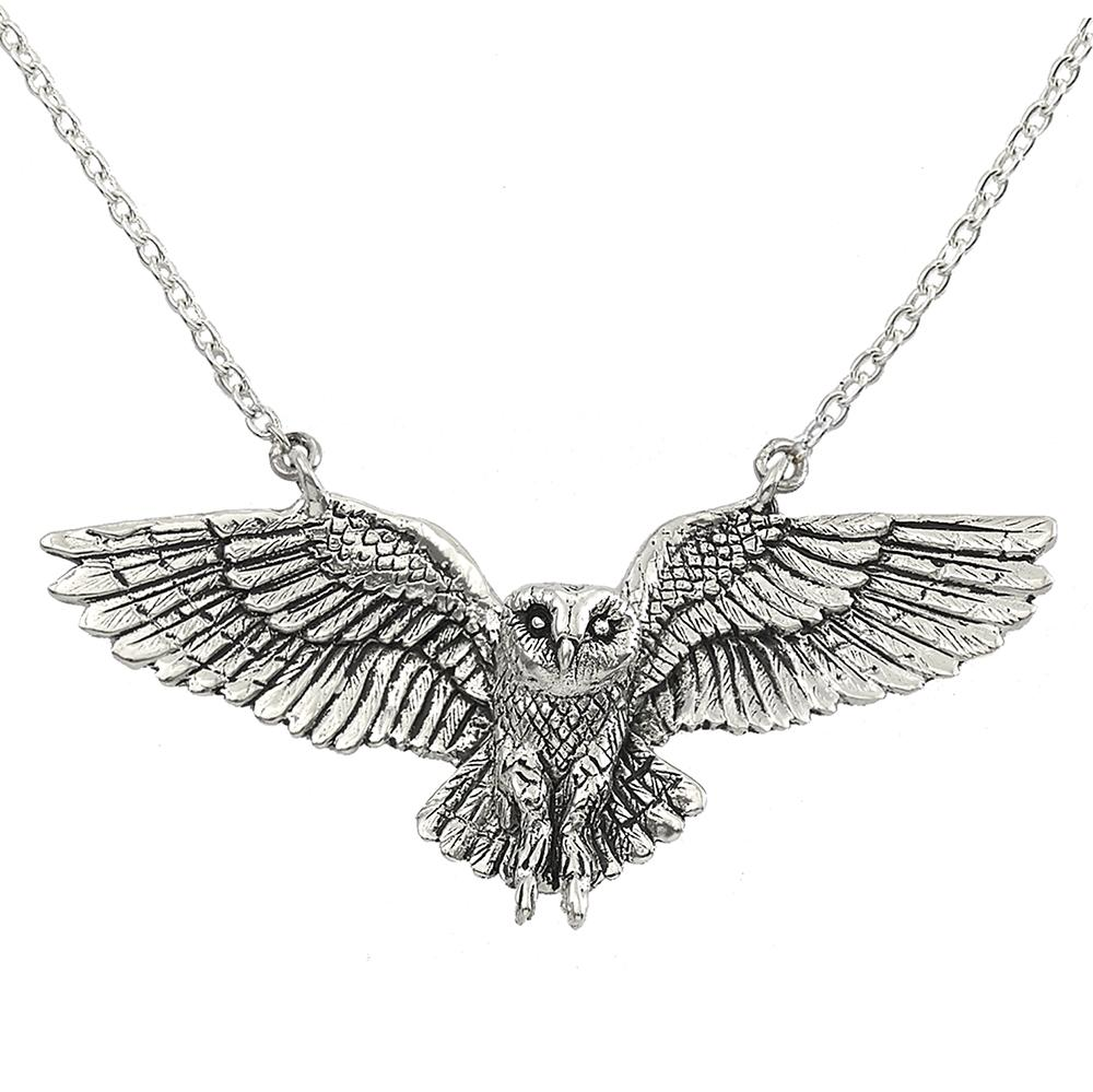 Wisdom & Truth Owl Necklace in Sterling Silver