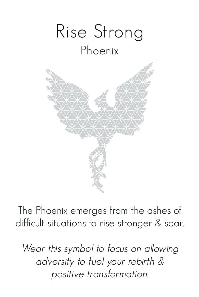 Phoenix Necklace in Bronze | Rise Strong | Jewelry Evolution8 | Nea Hildebolt Jewelry Design
