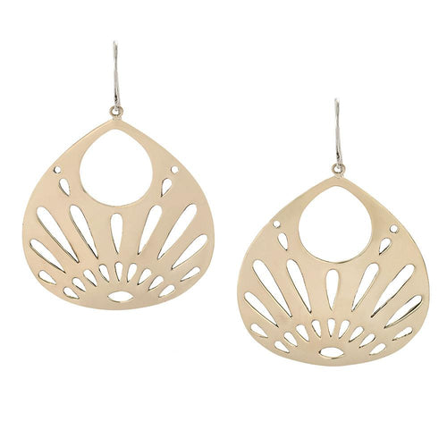 Shine Your Light Earrings in Bronze and Sterling Silver | Jewelry Evolution8 | Handcrafted Jewelry