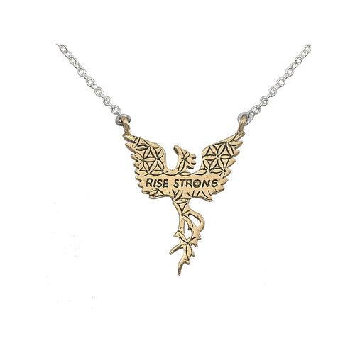 Small Phoenix Necklace in Bronze | Rise Strong | Jewelry Evolution8 | Nea Hildebolt Jewelry Design