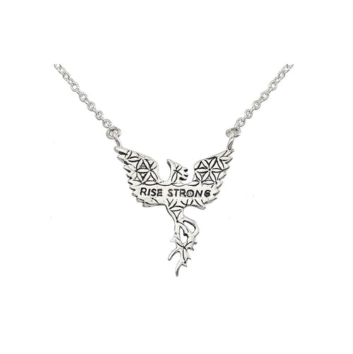Phoenix Necklace in Sterling Silver | Rise Strong | Jewelry Evolution8 | Nea Hildebolt Jewelry Design