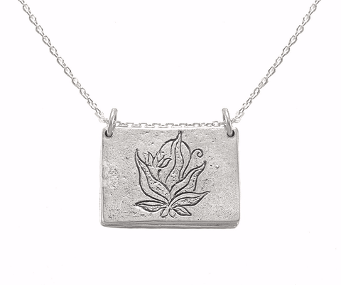 The Four Agreements Bar Necklace in Sterling Silver