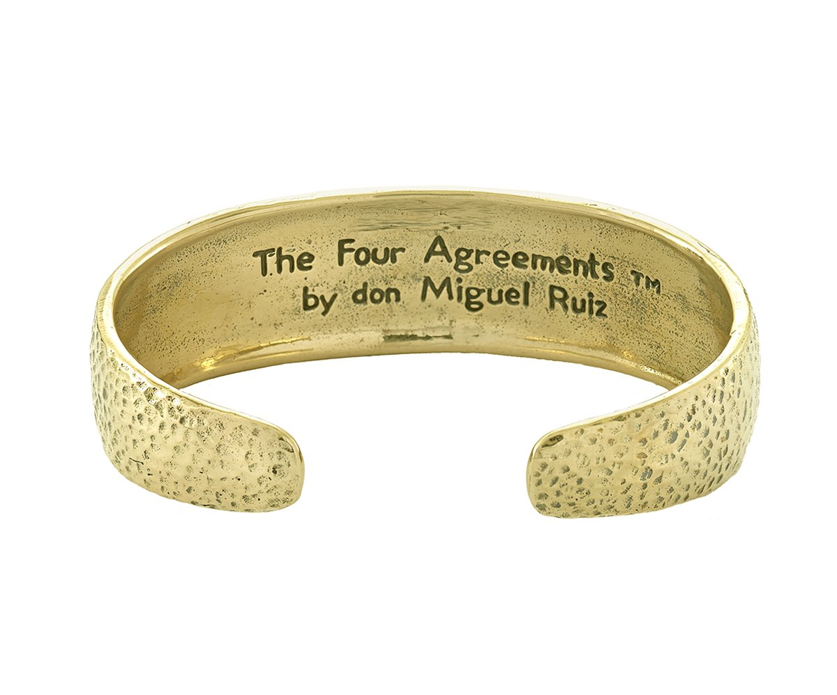 The Four Agreements Dome Cuff in Brass_in collaboration with don Miguel Ruiz_Inspirational Jewelry_Jewelry Evolution8