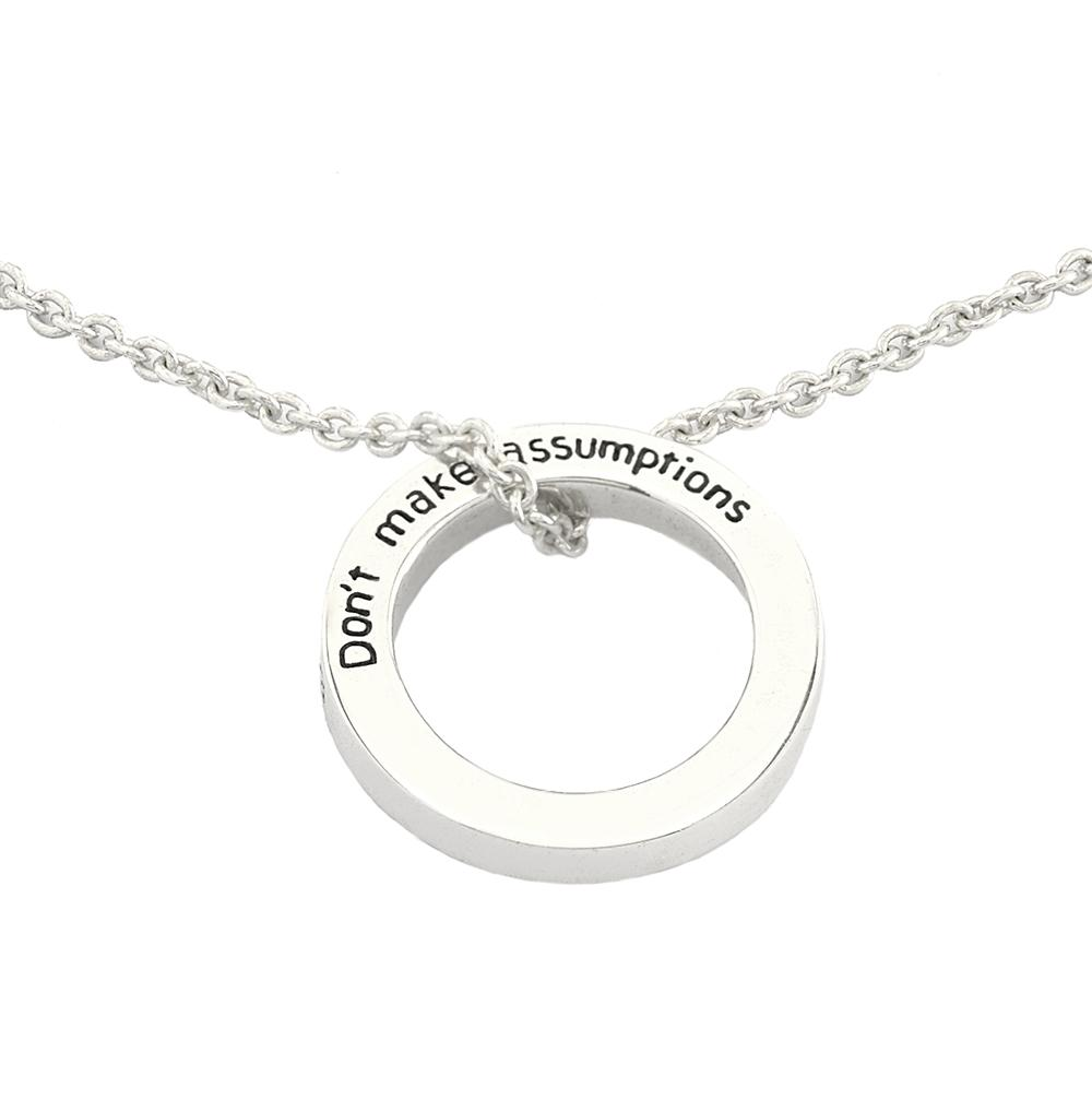 The Four Agreements Ring Necklace in Sterling Silver