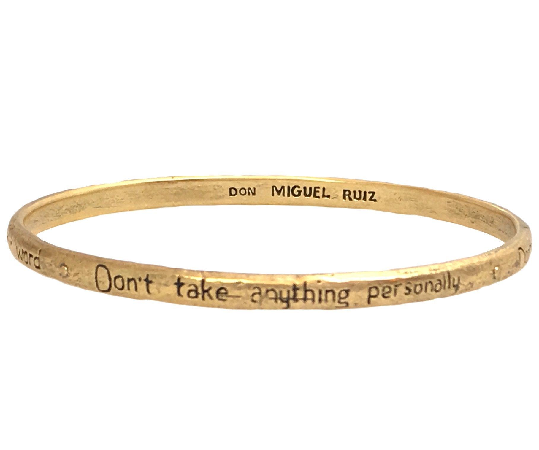The Four Agreements Bronze Single Bangle | Bracelet in Bronze | Handcrafted | Inspirational Jewelry | Jewelry Evolution8 | Made in Bali