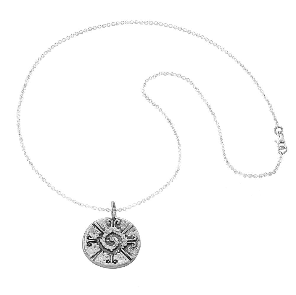 The Four Agreements Hunab-Ku Galactic Butterfly Medallion Necklace in Sterling Silver | Inspired Jewelry | Handcrafted | Jewelry Evolution8 | Made in Bali