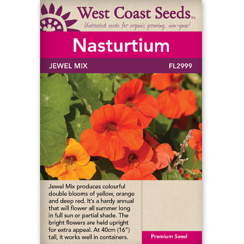 Nasturtium Jewel Mix - West Coast Seeds