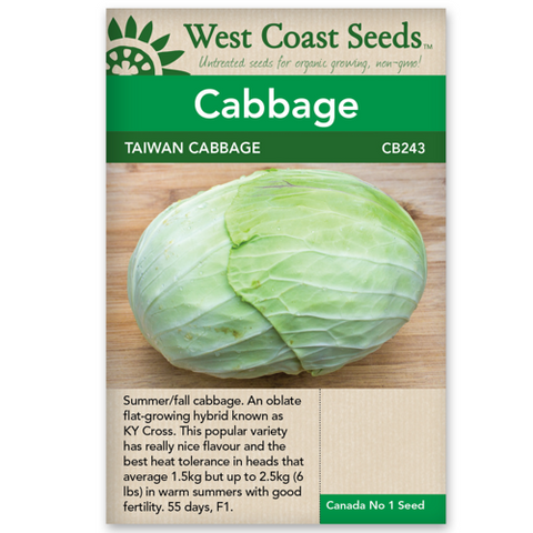 Cabbage Taiwan - West Coast Seeds
