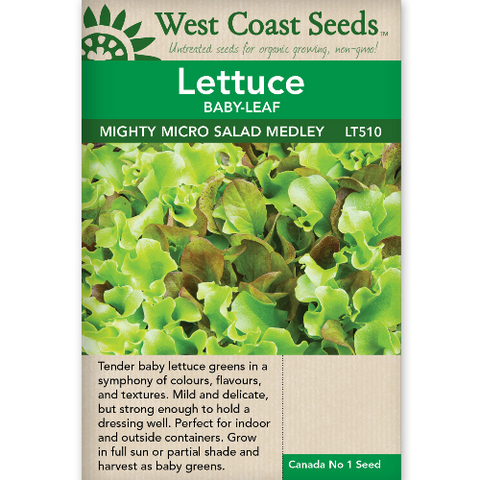 Lettuce Mighty Micro Salad - West Coast Seeds