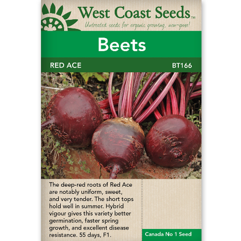 Beets Red Ace - West Coast Seeds