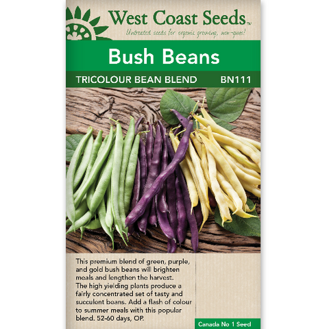 Beans Tricolour Blend - West Coast Seeds