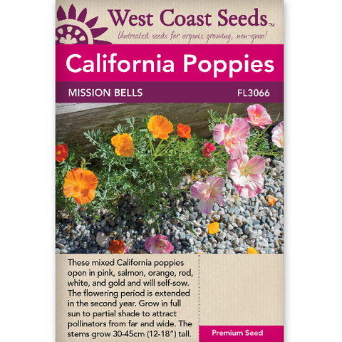 Poppies Mission Bells - West Coast Seeds