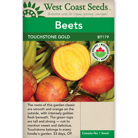 Beets Touchstone Gold Organic - West Coast Seeds