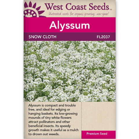 Alyssum Snow Cloth - West Coast Seeds