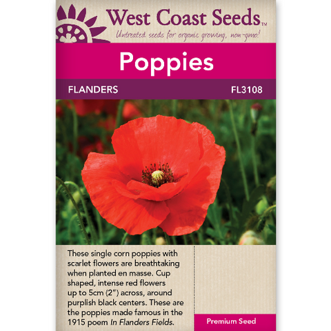 Poppy Flanders - West Coast Seeds