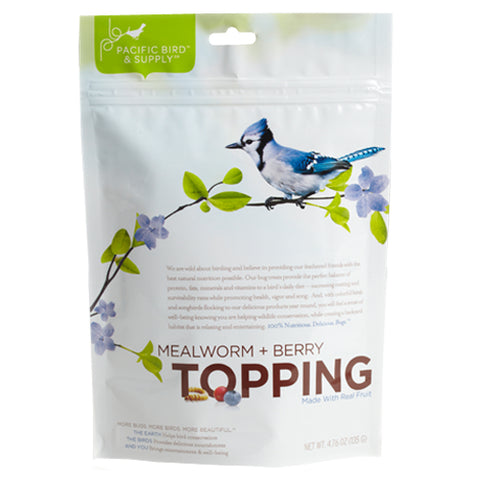 Mealworm and Berry Topping Bird Feed