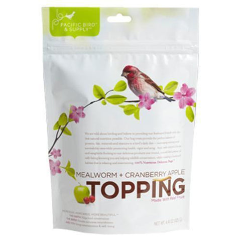 Mealworm and Cranberry Apple Topping Bird Feed