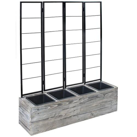 Urban Garden 4Part Planter with Trellis
