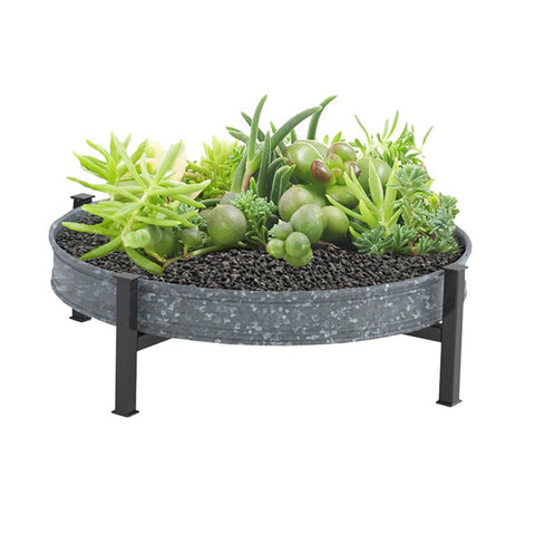 Metal Succulent Planter Tray 16""