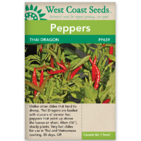 Peppers Thai Dragon - West Coast Seeds