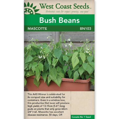 Bush Beans Mascotte - West Coast Seeds