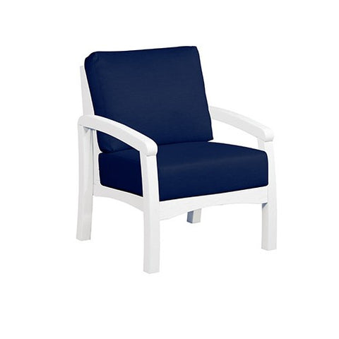 CR PLASTICS DSF161 ARM CHAIR AND CUSHIONS - STANDARD