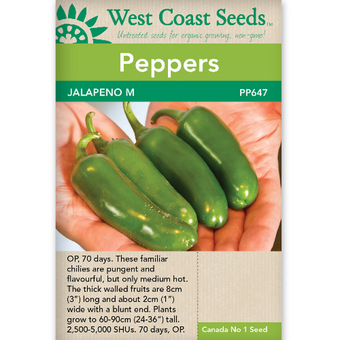 Peppers Jalapeno M - West Coast Seeds