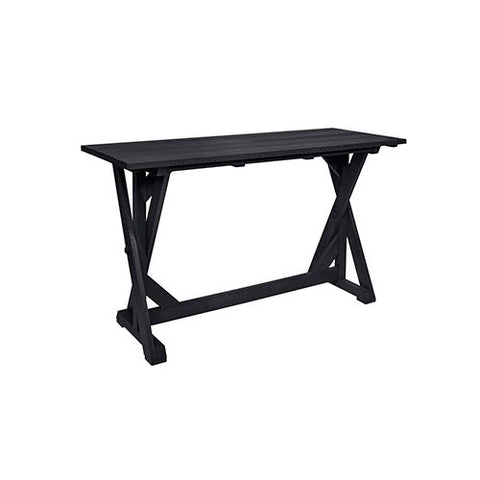 "CR PLASTICS T202 72"" BAR TABLE BLACK"