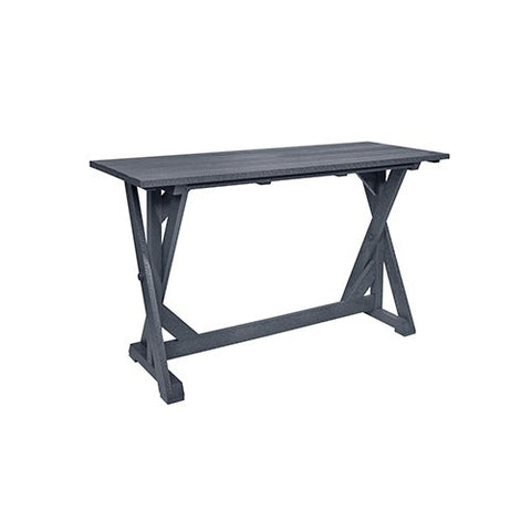 "CR PLASTICS T202 72"" BAR TABLE SLATE GREY"