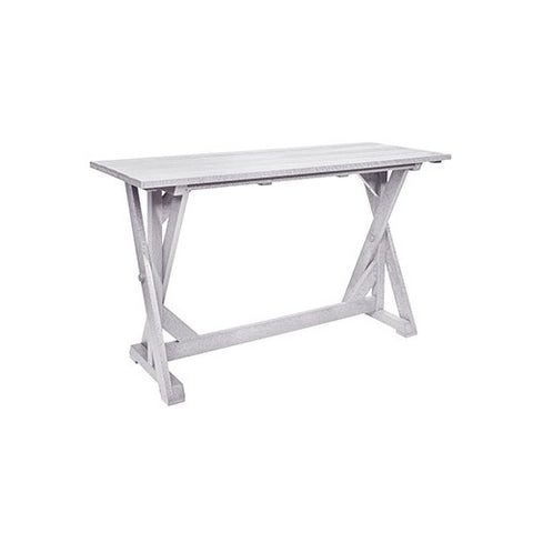 "CR PLASTICS T202 72"" BAR TABLE WHITE"