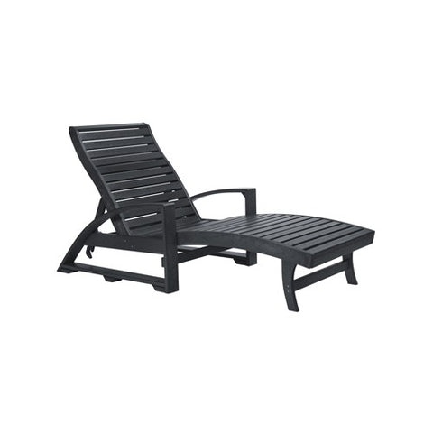 CHAISE LOUNGE (with hidden wheels) BLACK 14