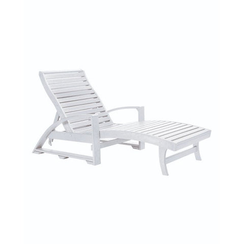 CHAISE LOUNGE (with hidden wheels) WHITE 02