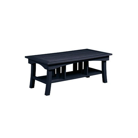 "DST167 49"" COFFEE TABLE BAY BREEZE BLACK 14 C.R. PLASTICS OUTDOOR FURNITURE"
