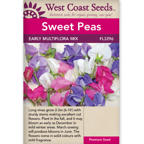Sweet Peas Multiflora - West Coast Seeds