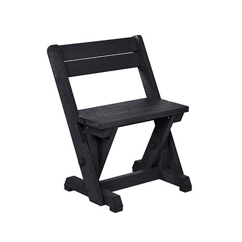 CR PLASTICS C202 DINING CHAIR W/ BACK BLACK